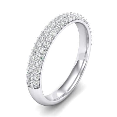 Three-Row Pave Crystals Ring