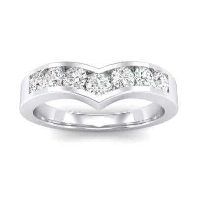 Channel-Set Peak Diamond Ring (0.44 CTW) Top Dynamic View