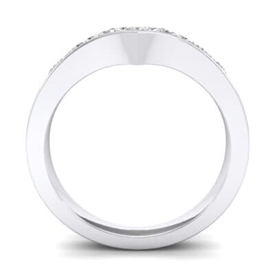 Channel-Set Peak Diamond Ring (0.44 CTW) Side View
