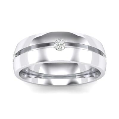 Grooved Five-Stone Crystals Ring
