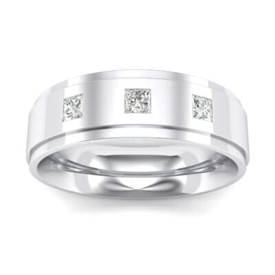 Stepped Edge Princess-Cut Trio Crystals Ring