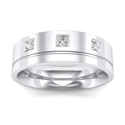 Princess-Cut Trio Crystals Ring