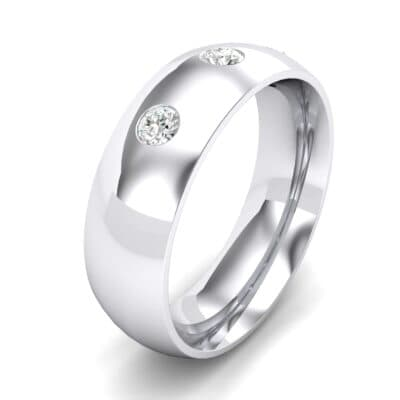 Rounded Three-Stone Crystals Ring