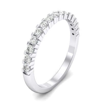 Thin Shared Prong Crystals Ring