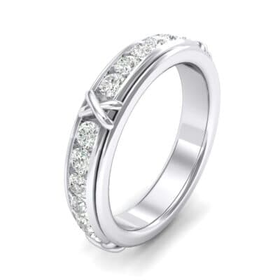Crosses Channel-Set Crystals Eternity Ring