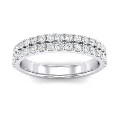 Double-Row Crystals Ring