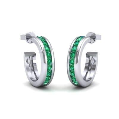 Semi Hoop Emerald Earrings (0.22 Carat)