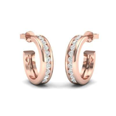 Semi Hoop Diamond Earrings (0.22 Carat)