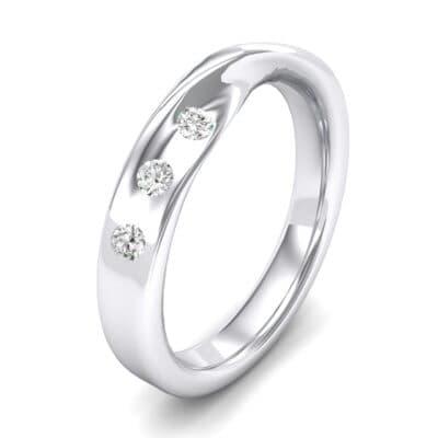Single Twist Flush-Set Crystals Ring