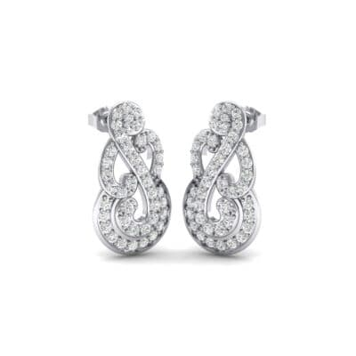 Pave Clef Crystals Earrings (1.06 Carat)