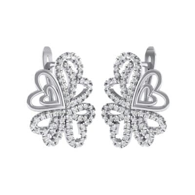 Clover Hearts Crystals Earrings (1.53 Carat)
