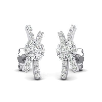Ribbon Crystals Earrings (0.45 Carat)