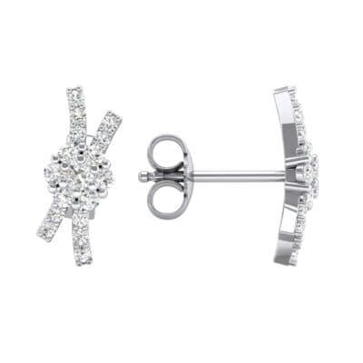 Ribbon Diamond Earrings (0.32 CTW) Top Dynamic View