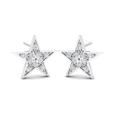 Pave Star Crystals Earrings (0.24 Carat)