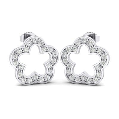 Pave Flora Crystals Earrings (0.48 Carat)
