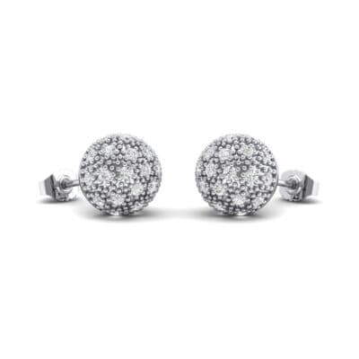 Pave Ball Crystals Earrings