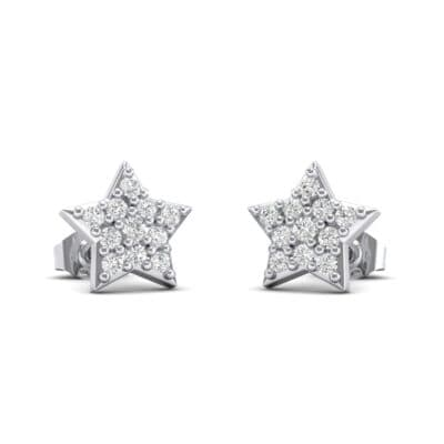 Pave Star Crystals Earrings (0.27 Carat)