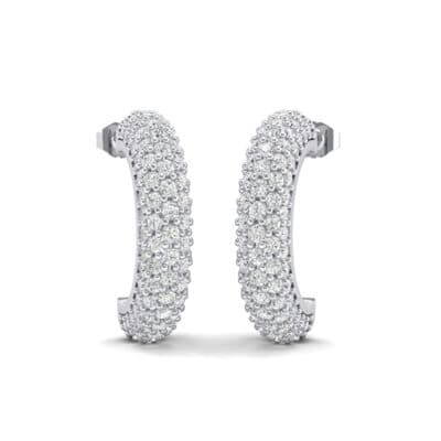 Half-Hoop Pave Crystals Earrings