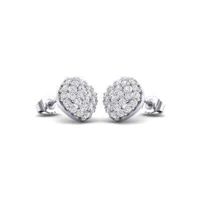 Pave Cushion Crystals Earrings