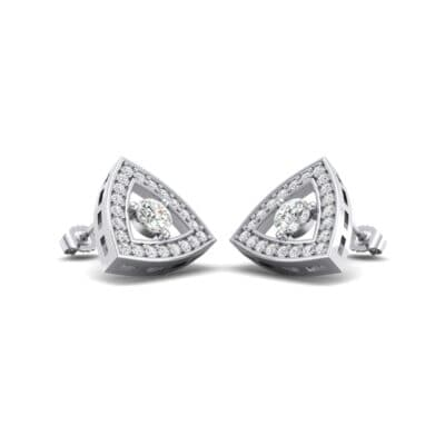 Pave Reuleaux Crystals Earrings (1.33 Carat)