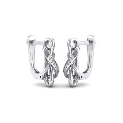 Infinity Twist Crystals Earrings (0.12 Carat)