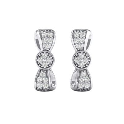 Pave Bow Tie Diamond Earrings (0.31 CTW) Side View