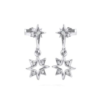 Falling Star Crystals Drop Earrings
