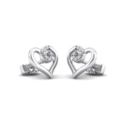 Swirl Heart Crystals Earrings (0.21 Carat)