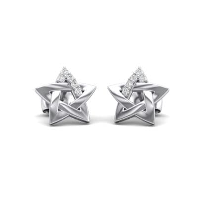 Pentagram Crystals Earrings (0.05 Carat)
