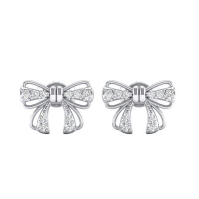 Bow Diamond Earrings (0.19 CTW) Side View