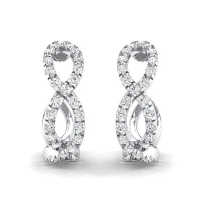 Pave Twist Crystals Hoop Earrings