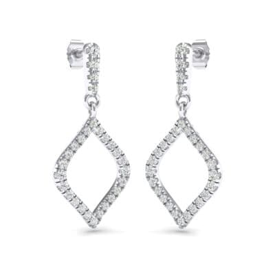 Pave Rhombus Crystals Drop Earrings (0.83 Carat)