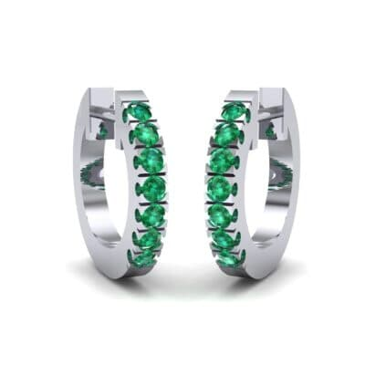 Accented Emerald Bar Earrings (0.27 Carat)