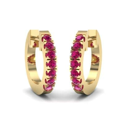 Accented Ruby Bar Earrings (0.27 Carat)