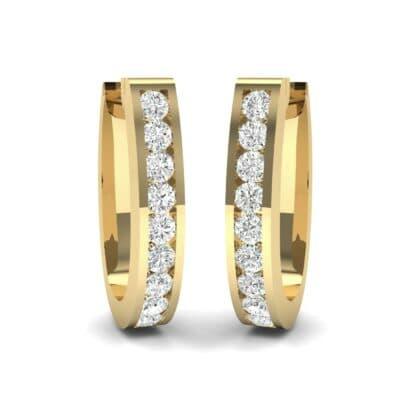 U Shaped Round-Cut Diamond Earrings (0.33 Carat)