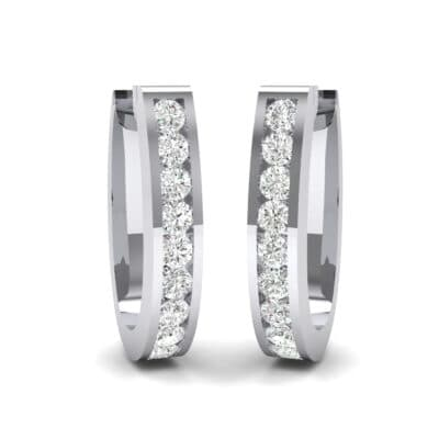 U Shaped Round-Cut Crystals Earrings (0.33 Carat)