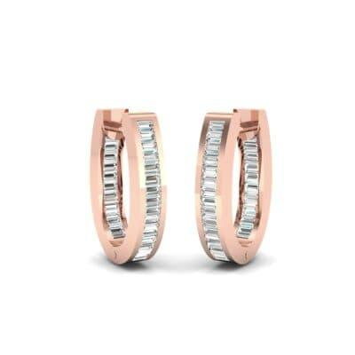 Huggie Channel-Set Diamond Earrings (1.02 Carat)