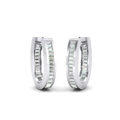 Huggie Channel-Set Crystals Earrings (1.02 Carat)