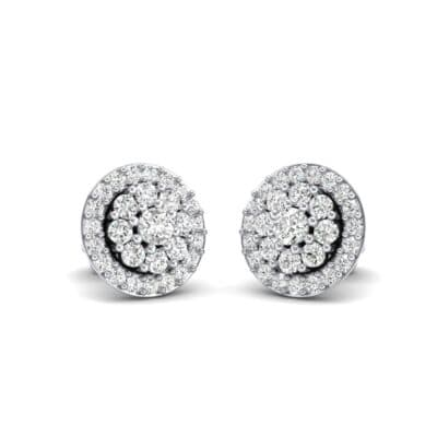 Halo Larosa Crystals Earrings (0.43 Carat)