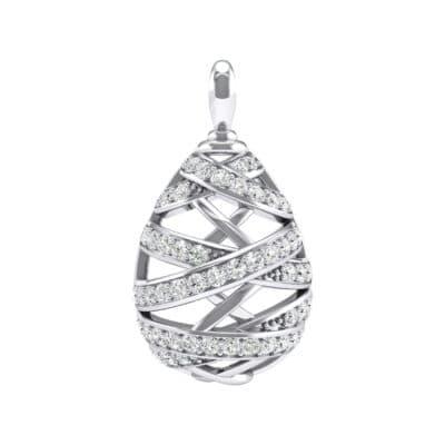 Crisscross Crystals Pendant