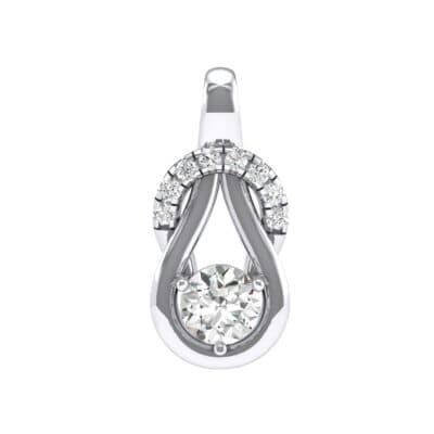 Pave Knot Crystals Solitaire Pendant (0.68 Carat)