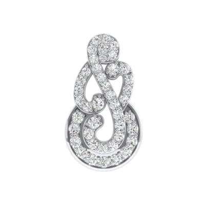 Pave Clef Crystals Pendant