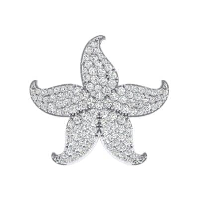 Pointed Flower Pave Crystals Pendant (2.57 Carat)