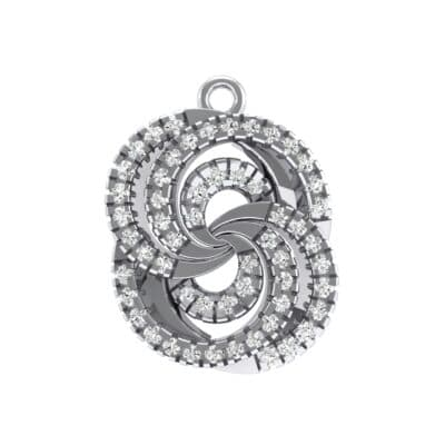 Micro-Pave Crystals Whirl Pendant
