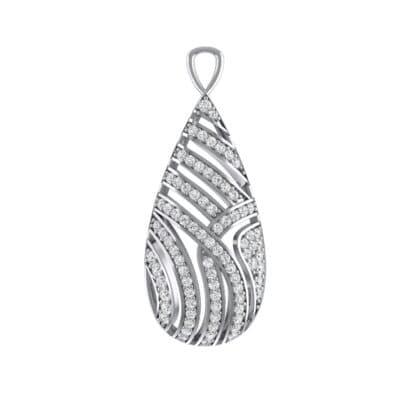 Teardrop Swirl Crystals Pendant (0.86 Carat)