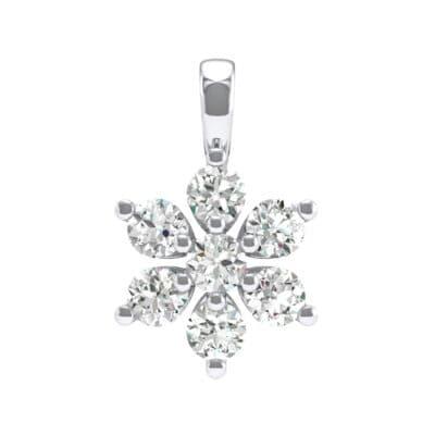 Flower Crystals Cluster Pendant