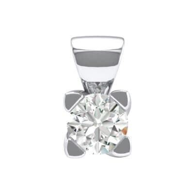 Petite Compass Point Crystals Solitaire Pendant