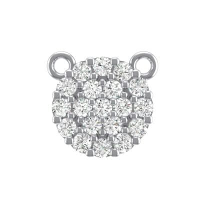Pave Circle Crystals Pendant