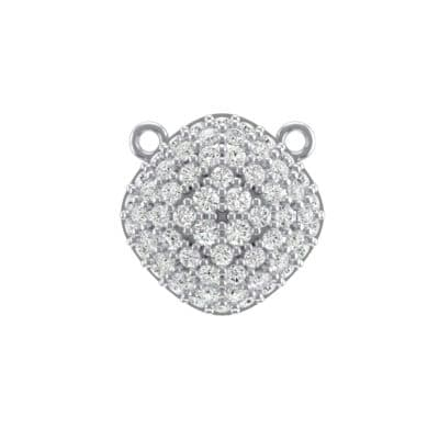Pave Tilted Cushion Crystals Pendant