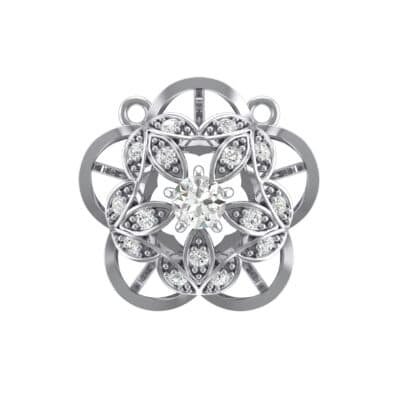 Cut Out Flower Crystals Pendant